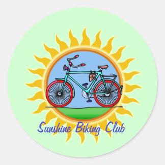 Custom Bicycling Club Logo Wear Round Sticker
