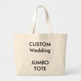 Custom BIG LARGE JUMBO Shopping Tote Bag (NATURAL)