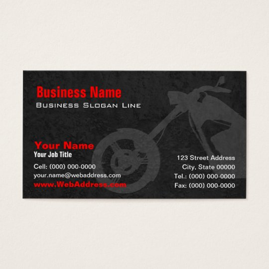 Custom Bike Builders Business Card