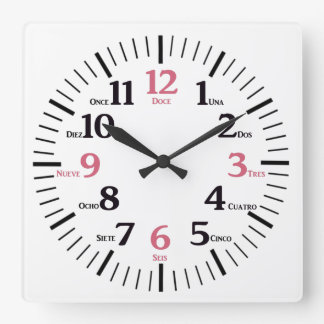 Custom Bilingual English/Spanish Clock