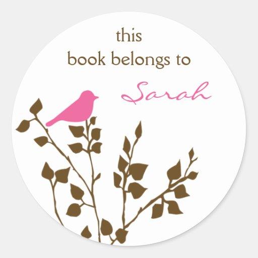 Custom Bird Bookplate Stickers