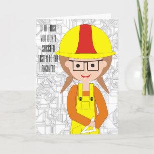 Custom Birthday Card For A Female Engineer