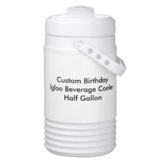 Custom Birthday Igloo Beverage Cooler Half Gallon