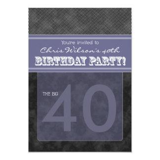 :custom: birthday invitation_black/purple announcements