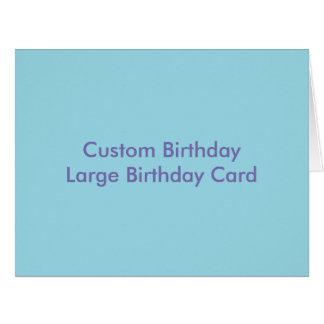 Custom Birthday Large Birthday Card