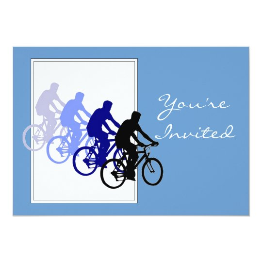 Custom Birthday Party, Bike, Cycle, Biking Card