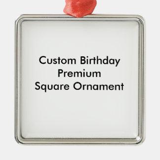 Custom Birthday Premium Square Ornament