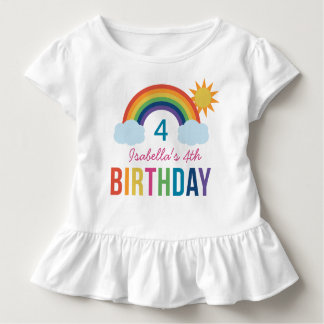 Custom Birthday Shirt | Rainbow Colors