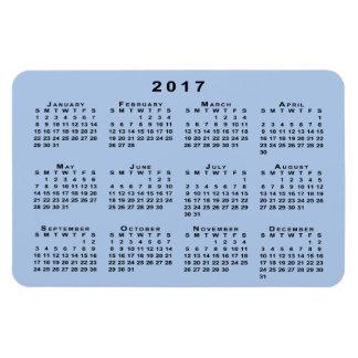 Custom Black 2017 Calendar on Light Blue Template Rectangular Photo Magnet
