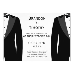 Gay Wedding Invitations Announcements Zazzle Uk