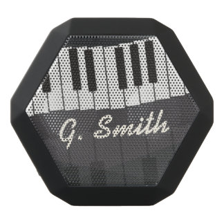 Custom Black and White Piano Keyboard. Add Name. Black Bluetooth Speaker