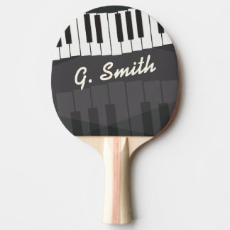 Custom Black and White Piano Keyboard. Add Name. Ping Pong Paddle