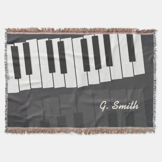 Custom Black and White Piano Keyboard. Add Name.