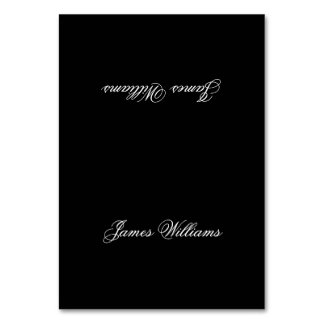 Custom Black And White Simple Place Setting Cards Table Card