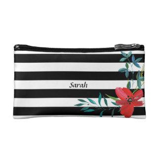 Custom Black and White Striped Bridesmaid Bag