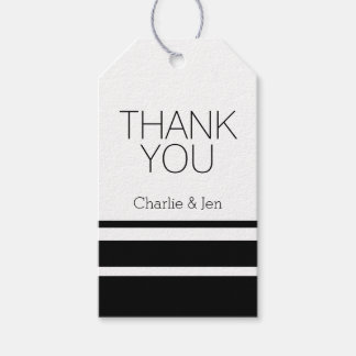 Custom Black and White Thank You Gift Tags