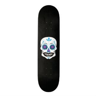 Custom Black Blue Candy Skull Deck Skateboards