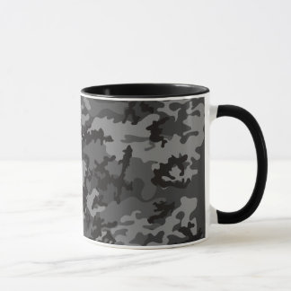 Custom Black Camo Glass Mug