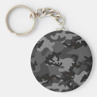 Custom Black Camo Keychain