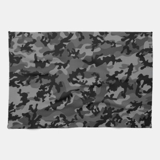 Custom Black Camo Kitchen Towels