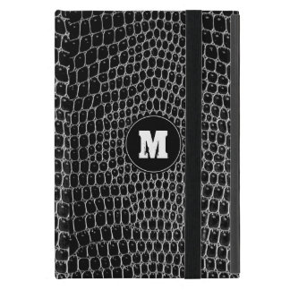 Custom Black Croc Monogram Crocodile Skin ipad min Cover For iPad Mini