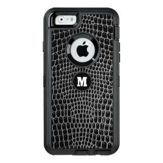 Custom Black Croc Monogram Crocodile Skin Iphone