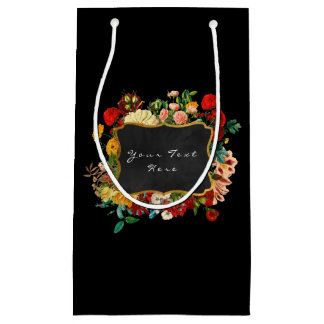 Custom Black Floral Baroque Vintage Elegant Bag