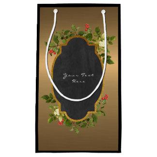 Custom Black Floral Baroque Vintage Gold Bag