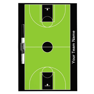 Custom black green basketball dry erase board