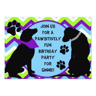 Custom Black Lab Birthday Party Invitation