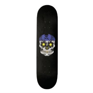 Custom Black Motorcycle Candy Skull Deck 18.1 Cm Old School Skateboard Deck