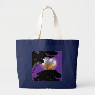 Custom Black New Moon Large Tote Bag