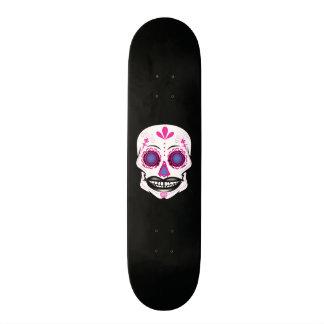 Custom Black Pink Candy Skull Deck Skate Board Deck