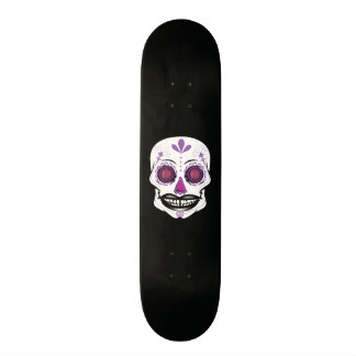Custom Black Purple Candy Skull Deck Custom Skateboard