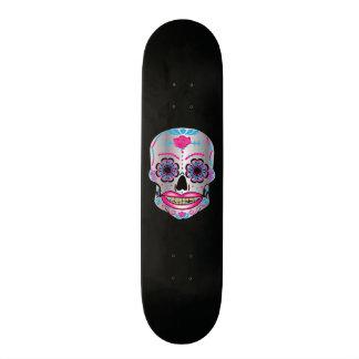Custom Black Rose Candy Skull Deck 18.1 Cm Old School Skateboard Deck