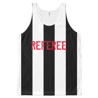 Custom black stripes design All-Over print tank top