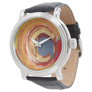 Custom Black Vintage Leather Wristwatches