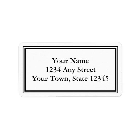 Custom Black & White Envelope Address Labels