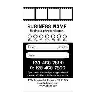 Custom black white photo appointment cards business card template