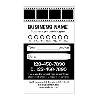 Custom black white photo appointment cards business cards