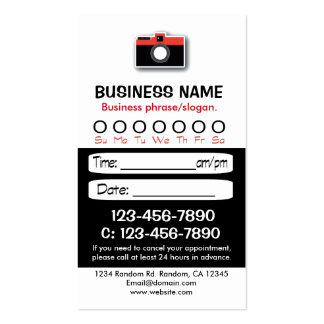 Custom black white photo appointment cards business card
