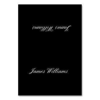 Custom Black White Simple Place Setting Cards Table Card