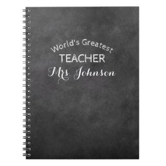 Custom blackboard chalkboard school teacher gift notebooks