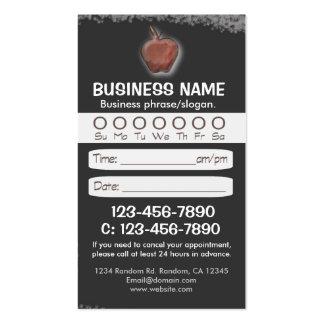 Custom blackboard teacher appointment cards business card