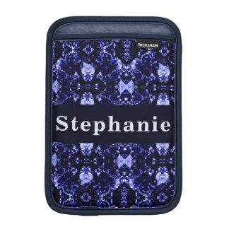 Custom Blue Abstract Pattern iPad Mini Sleeve