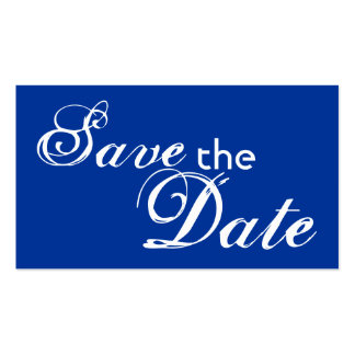 Custom blue back save the date wedding cards business card