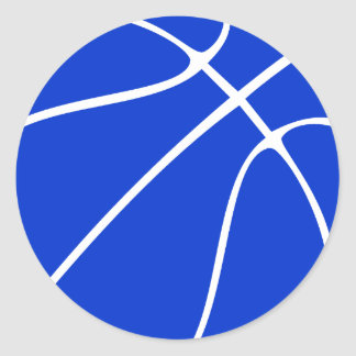 Custom Blue Basketball Gifts Stickers