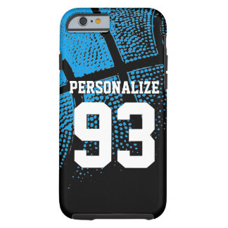 Custom blue basketball jersey number iPhone 6 case Tough iPhone 6 Case
