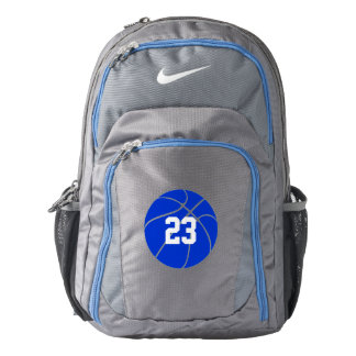 Custom Blue Basketball Nike Backpack