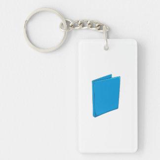 Custom Blue Binder Folder Mugs Hats Buttons Pins Single-Sided Rectangular Acrylic Keychain